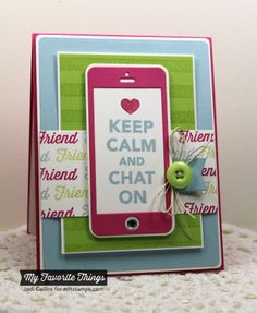 Featuring: LLD Friend Request and Striped Background and the Smart Phone Die-Namics!