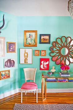 Loving all these vibrant colors! Rengarenk ev dekorasyonu