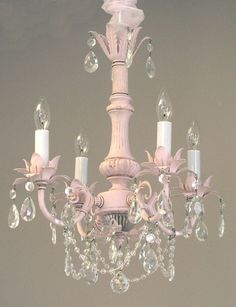 Lighting - Chandeliers - Pleasant Dreams 4-Arm Crystal Chandelier - Cottage Haven Interiors