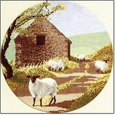 Hardanger Embroidery, Cross Stitch Embroidery, Cross Stitch Patterns, Sheep Cross Stitch, John Clayton, Heritage Crafts, Sheep And Lamb, Cross Stitching, Needlework