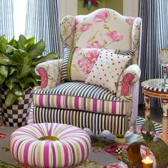 MacKenzie-Childs - Summerhouse Wing Chair