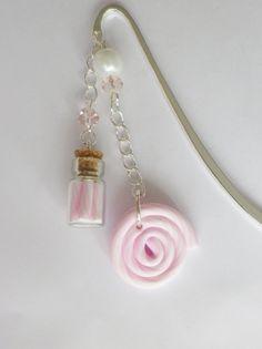 marque page sucette lolipop fiole sucre d orge multicolore rose bonbon pastel cadeau unique : Marque-pages par fimo-relie