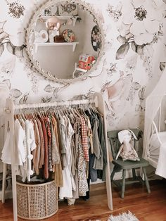Flower Nursery Organizer Clothing Rack 8 Sizes Decor  Gi Baby Closet Dividers