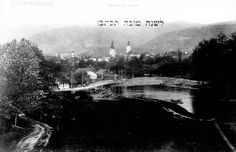 "Pictured here is a New Years card sent from Banska Bystica, Slovakia. It is a view of the town from the end of the 19th century. In 1940, there were 1,327 Jews in Banska Bystica. Deportations began in March, 1942. Many families were deported to concentration camps and ghettoes in the Lublin area.  400 ""useful"" Jews remained behind. - Before the war"