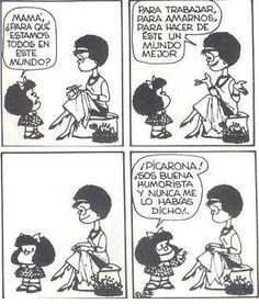 Mafalda Quotes on Funny Cartoon Quotes, New Funny Jokes, Funny Jokes For Adults, Funny Cartoons, Hilarious, Kids Laughing, Laughing So Hard, Ugly Sweater Funny, Funny Christmas Puns