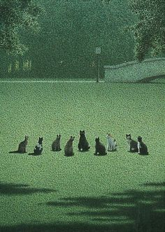 Quint Buchholz (b.1957) — Cat Assembly (426×600)
