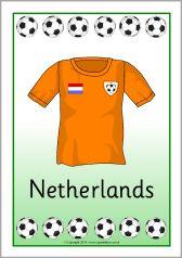 Football world cup kit posters (SB10527) - SparkleBox