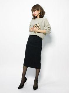 SLOBE IENAのニット・セーター「CHESS 畦ドルマンニット◆」を使ったeriko(ZOZOTOWN)のコーディネートです。WEARはモデル・俳優・ショップスタッフなどの着こなしをチェックできるファッションコーディネートサイトです。 B Fashion, Tomboy Fashion, Japan Fashion, Work Fashion, Cute Fashion, Modest Fashion, Daily Fashion, Winter Fashion, Fashion Looks