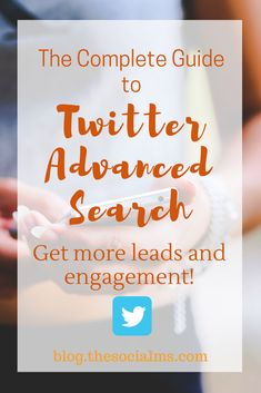 Twitter advanced search offers endless options for lead generation, engagement and audience building. Here is how to use it. twitter features, twitter tips, twitter marketing, twitter strategy #twitter #twittertips #twittersearch #twittermarketing