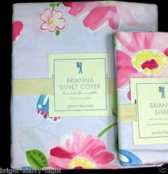Pottery Barn Kids Brianna Twin Duvet Cover Lavender Floral Butterfly Fairy New | eBay