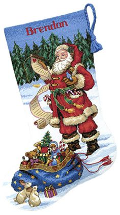 Needlepoint Christmas Stockings & Applique Kits - Everything You Need!
