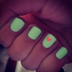 #mint and #coral #nails #summer