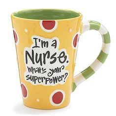 """$11.42 IN STOCK NOW!  Nurse 12 Oz Coffee Mug/cup with """"I'm A Nurse"""" What's Your Super Power?"""" Great Gift For Nurses. This contains an Amazon affiliate link that will direct to amazon"""