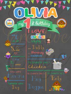 Milestone Poster Hey Duggee by on Etsy Second Birthday Ideas, Baby 1st Birthday, 3rd Birthday Parties, Birthday Party Decorations, Party Themes, Party Ideas, Diy Party, Party Fun, Party Invitations