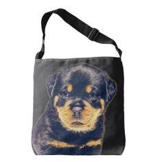 #Rottweiler Puppy- Customizable Crossbody Bag - #rottweiler #puppy #rottweilers #dog #dogs #pet #pets #cute