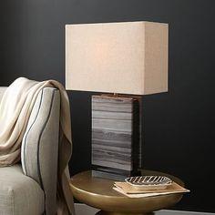 Monolith Stone Table Lamp #westelm