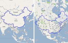 China x The United States | 19 Maps That Will Help You Put The United States In Perspective