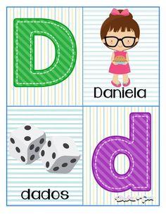 Tarjetas para trabajar el abecedario - Imagenes Educativas Alphabet Letters Images, Alphabet Cards, Pre Kindergarten, Preschool Lessons, Kids And Parenting, Kids Rugs, Activities, Education, Learning