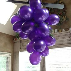 cluster of grapes made from balloons | You changed, Balloons and Be cool on Pinterest