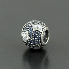 Authentic Pandora FOLLOW THE STARS, CLEAR CZ & MIDNIGHT BLUE CRYSTAL No.791382CZ