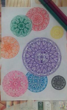 Mandala Coloring, Mandala Art, Colorful, Drawings, Books, Mandalas, To Draw, Livros, Coloring Pages Mandala