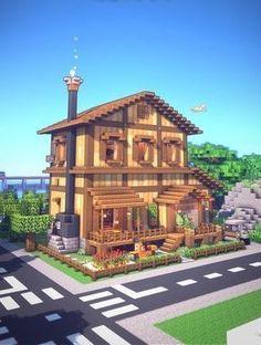 Big Minecraft Houses, Minecraft Shops, Minecraft City Buildings, Minecraft House Plans, Minecraft Farm, Minecraft Mansion, Minecraft House Tutorials, Minecraft Houses Blueprints, Minecraft House Designs