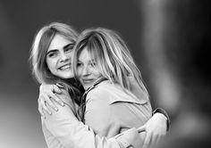 My Burberry bts Kate Moss und Cara Delevigne