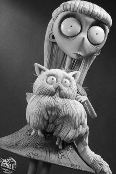 I would like Weird Girl from Tim Burton's Frankenweenie for tattoo. :)