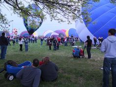 Watch Hot Air Balloons Glimmer and Glow: Filling the Balloons