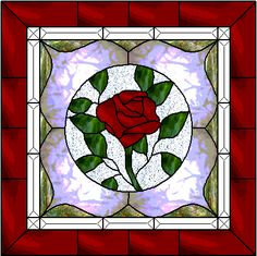 Beautiful stained glass rose