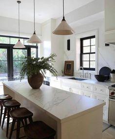 Home Decor Kitchen, Interior Design Kitchen, Home Kitchens, Kitchen Dining, Apartment Kitchen, Country Look, Deco Design, Interior Exterior, Interior Design Inspiration