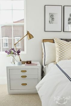 White and gold bedroom - Daily Dream Decor -