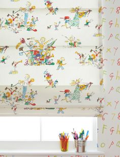 ahhhh! Quentin Blake fabric from All Join In! I LOVE it!