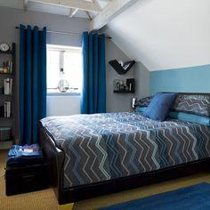 Blau Modernes Schlafzimmer Wohnideen Living Ideas