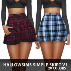 Simple Skirt V1 at Hallow Sims via Sims 4 Updates                                                                                                                                                      More
