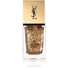 Yves Saint Laurent Beauty Women's La Laque Couture ($28) ❤ liked on Polyvore featuring beauty products, nail care, nail polish, makeup, nails, beauty, gold, yves saint laurent and yves saint-laurent nail polish