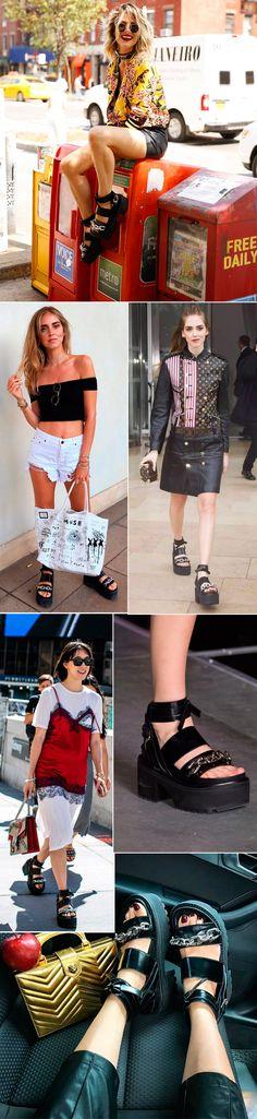 Street style look com sandália Louis Vuitton