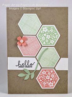 hello hexagon card by Papercraft Boutique