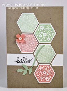 hello hexagon card by Papercraft Boutique