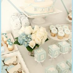 Baby Blue Baby Shower {Boy Baby Shower}
