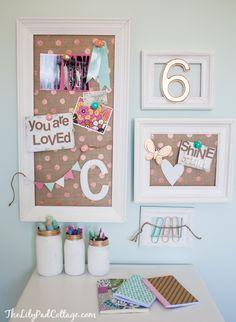 DARLING pin boards/desk (Lilypad Cottage)