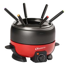 New NutriChef Small Appliance Countertop Set Cooker Chocolate Maker Cheese Electric Fondue Melting Pot, Warmer - Includes 6 Forks, Black online shopping - Melyssanicefashion Melting Chocolate, Hot Chocolate, Chocolate Fondue, Fondue Maker, Utensil Trays, Utensils, Cooking Bowl, Pots, Electric
