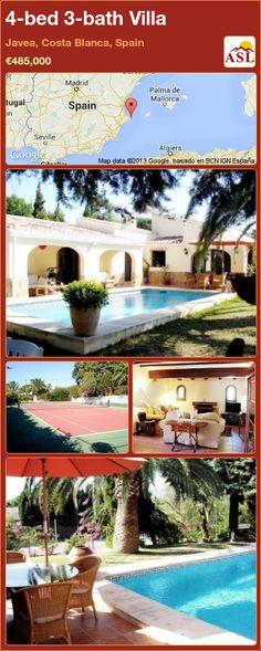 4-bed 3-bath Villa in Javea, Costa Blanca, Spain ►€485,000 #PropertyForSaleInSpain