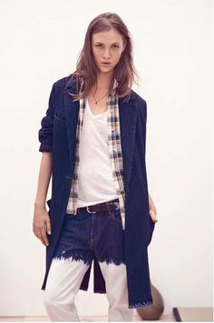 denim trench and bleached jeans..... Isabel Marant Etoile
