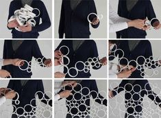 STICKINGRINGS is a modular partition system that can be assembled freely, intuitively and very fast. The adjustable density and porosity of the resulting screen allows different degrees of privacy.