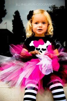 Pirate Tutu Costume Perfect for Halloween or Birthdays. $38.95, via Etsy.