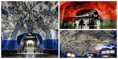 La stazione della metro di T-Centralen a #Stoccolma è magica