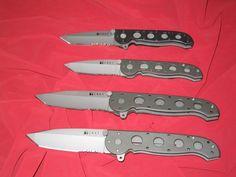 Lot of 4 knives! CRKT Kit Carson's M16 Design #ColumbiaRiver