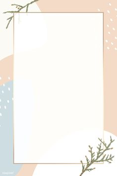 Rectangle gold frame on minimal patterned background vector Cute Pastel Wallpaper, Flower Background Wallpaper, Frame Background, Aesthetic Pastel Wallpaper, Aesthetic Wallpapers, Pattern Background, Wallpaper Powerpoint, Powerpoint Background Design, Minimal Background