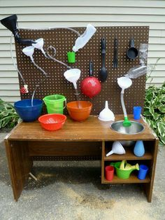Outdoor water play using simple, inexpensive resources - plenty of opportunities…